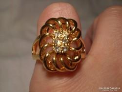 Gold filled kristályos gyűrű