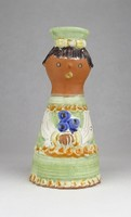 0Y800 Jelzett Kiss Roóz kerámia szobor 16.3 cm