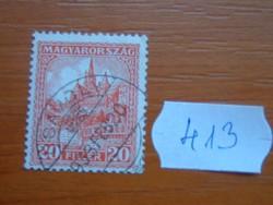 20 FILLÉR 1928-1930 Mátyás templom SÁVOLY 1933  413#