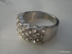 .Fehérarany Gold filled cirkóniakristályos OLASZ gyűrű