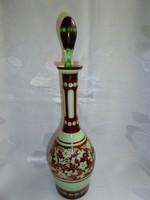 Szépséges 3 rétegű csiszolt bieder üveg palack