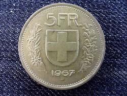 Svájc ezüst (.835) 5 Frank 1954 B / id 13854/