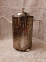 Antik 1920 Hutschenreuther Selb Bavaria kávé, tea kiöntő melegen tartóval WMF