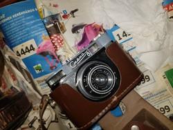 Fényképezőgép,  Szmena 8, barna tokostul, remek állapotban!