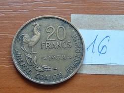 FRANCIA 20 FRANK FRANCS 1952 KAKAS 16.