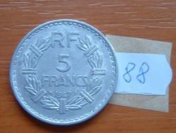 FRANCIA 5 FRANCS FRANK 1947 ALU. 88.