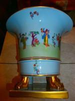 Antik! Ritkaság! 1942-ből! GYŰJTŐI DARAB! Herendi csung vert ANTIK! 1db. MING körmös váza 18x15cm