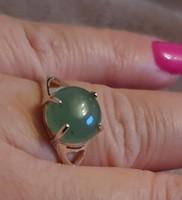 Aventurin  drágaköves sterling ezüst gyűrű 57 méret --új
