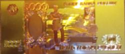 24 kt arany ötezer rubeles bankjegy