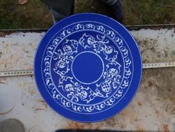 Barth Lídia/Lídia Tihany, kékműves hatalmas kerámiatál, szuper állapotban!