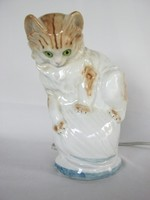 Cica macska porcelán lámpa