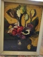 """Vilhelm Károly: """"Tulipános kép"""" című alkotása eladó"""