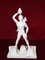 Rodoszi Kolosszus görög alabástrom szobor. 30 cm magas, 18 cm széles.