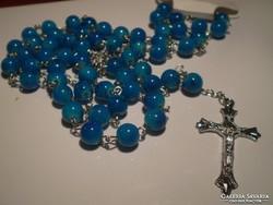 Kék RÓZSAFÜZÉR, szentolvasó