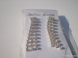 Csiszolt kristályoy hosszú lógós fülbevaló