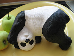 Panda maci szobor, figura