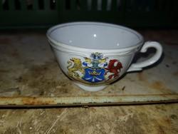 Gyönyörű porceláncsésze, jelzett, öreg, Stralsund felirattal