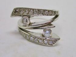 Gyönyörű sok köves ezüst gyűrű