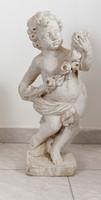 Kerti szobor, kültéri puttót ábrázoló szobrászbeton alkotás