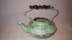 Nagyon antik ónozott réz tea kiöntő , kanna
