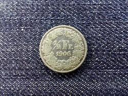 Svájc .835 ezüst 1/2 Frank 1906 B / id 13960/