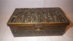 Antik réz doboz