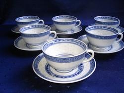 6 db. kínai teás/kávés csésze aljjal