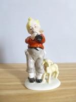 Extrém ritka,német báránynak furulyázó kisfiú