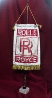 Régi Rolls Royce Kereskedői Reklám Asztali Zászló