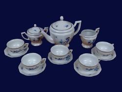 """Zsolnay """"Éva"""" porcelán  teáskészlet az 1910-es évekből."""