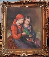 Bendéné Kovacsev Friderika / Lányok babával
