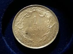 Belgium, ezüst 1 Frank 1910.