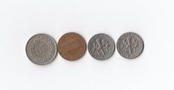 1 Cent és Dime 1967-1974 USA +  20 Rappen 1968 Svájc