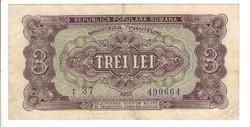 3 lei 1952 Románia 2. Ritka