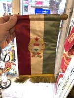Zászló a kommunizmusból, nagyméretű, 20 cm-es, gyönyörű állapotban!