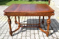 Ónémet faragott tölgyfa asztal