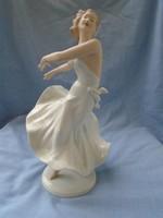 Wallendorf nagy méretű táncoló balerina hölgy porcelán