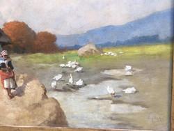 Festmény Neogrády Antal olaj vászon