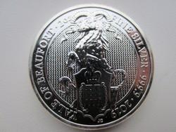 2019 Kos éve Britannia befektetési 0.9999ag 2uncia ezüst érme