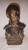 Martinovics Ignác büszt , 35 cm régi szobor