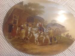 Lehelet vèkony lemezre festett miniatüre szignòzott
