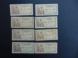 Jugoszlávia 8 darab 50 dinár 1946 LOT ritkább bankjegyek
