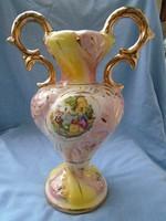 Nápolyi minőségi porcelán barokk jelenetekkel és dúsan aranyozva