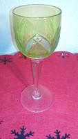 Üveg poharak, zöldes, színezett - 2 darab