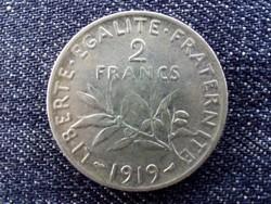 Franciaország .835 ezüst 2 Frank 1919 / id 13908/
