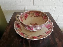 Antik Copeland Late Spode gyönyörű teás csésze és tányér
