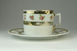 0R028 Régi aranyozott porcelán kávéscsésze