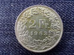 Svájc .835 ezüst 2 Frank 1963 B / id 13912/