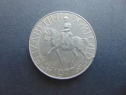 25 pence 1977 Anglia   28 grammos nagy érme