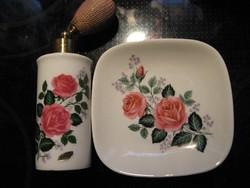 Gregor Royal Bavaria rózsás parfüm szóró gyűrűs tálkával